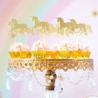 Mini Unicorn Cupcake Toppers 6pcs/pack