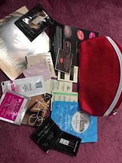 Exclusive luxury bag w/ clarins bag