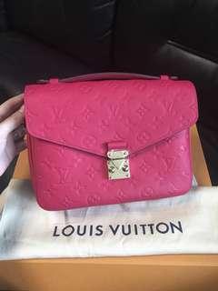 💖BNIB 2018💖Lv Pochette Metis Empreinte Pink Freesia Ghw New!!