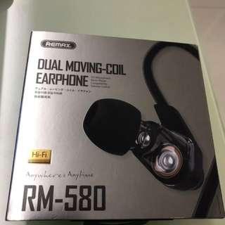 REMAX 雙動圈耳機 ( 超重低音 )  全新  ( 黑/白色 )