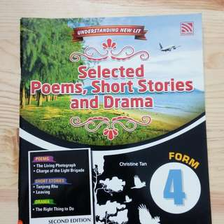 SPM: ENGLISH LITERATURE F4 (NOTES+EXCERCISES) by PELANGI