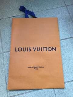LV Louis Vuitton 紙袋