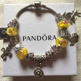 Pandora Inspired bracelet Belle's Beauty & the Beast charms