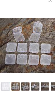 INSTOCK 10Pcs Transparent Standard SD SDHC Memory Card Case Holder Box Storage