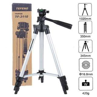 40.2 inch Portable Camera Tripod with Three-dimensional Head + Quick Release Plate + Carrying Bag (TF-3110)