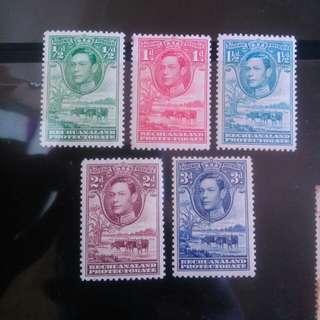 英屬巴津納蘭 1938年 喬治六世 新票無背貼