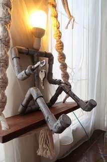 HANDCRAFTED INDUSTRIAL bedside lamp