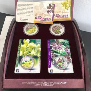 2007 Heritage Orchids of Singapore Coin & Card Set
