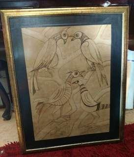 Lukisan Kertas Dekor Widayat