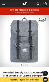 Hershel Supply Co. Little America Backpack