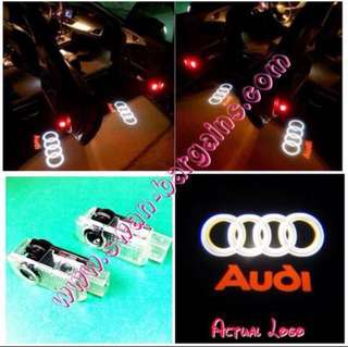 Audi Logo LED Light Ghost Shadow Projector Car Door Courtesy Welcome Greetings Lamp A1 A3 A4 A5 A6 A7 A8 Q3 Q5 Q7 R8 RS4 RS5 RS6 RS7 TT