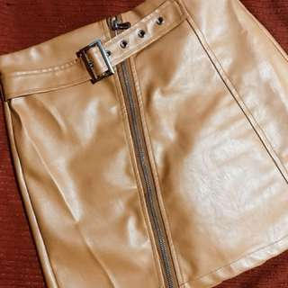 Leather skirt (brown)