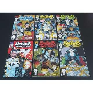 Punisher War Zone #1-6 (1992) Set of 6 Books (NetFlix Series Luke Cage Season 2- HOT!)