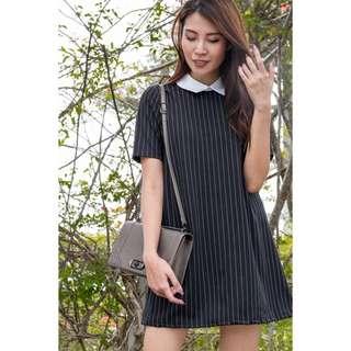 (PO) Suave Stripes Shift Dress
