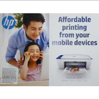 Brand New HP Deskjet 2621 Wireless 3 in 1 Printer