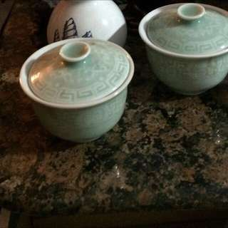 Traditional teacups