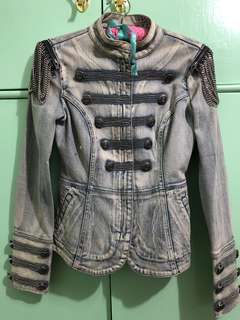 Guess Military Marching Denim Jacket