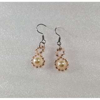 Swarovski Elements Cream White Pearl Earrings