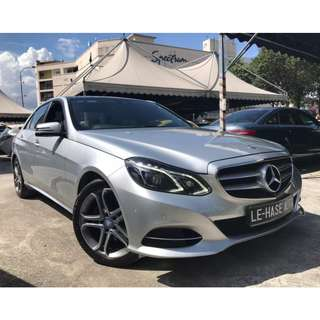 Mercedes Benz E250 2.0 (A) 2015 UNDER WARRANTY
