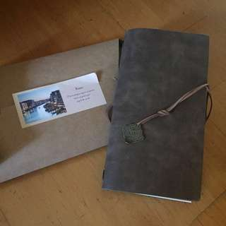 皮革筆記本