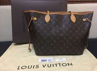 Preloved Authentic LV Neverfull MM Monogram 2012