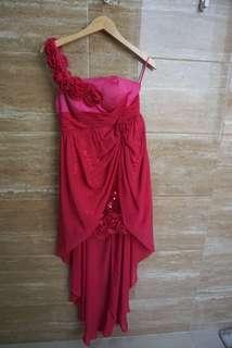 Pink fushia party dress