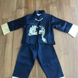 Chinese traditional clothes size for  2y old