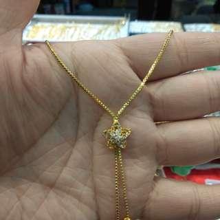 Plated 24k gold 電鍍金頸鏈