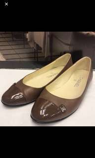 清貨 Chanel Patent Leather Flat Shoes