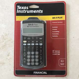 BN Financial Calculator Texas Instrument BA II PLUS no nego