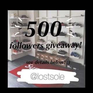@lostsole giveaway ^^