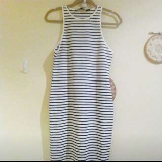 Stripe dress new size m the fifth