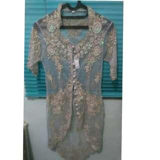 Baju atasan kebaya tile wanita ukuran M preloved