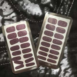 Preloved miniso nail stickers (color: purple)