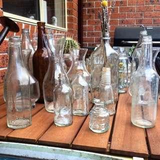 A variety of rustic Jars, Vases & Bottles