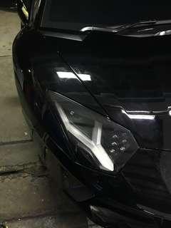Head light tinting & rear light tinting