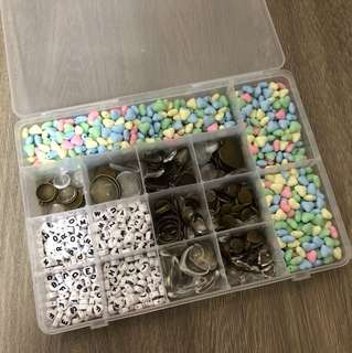Box of beads and pendants