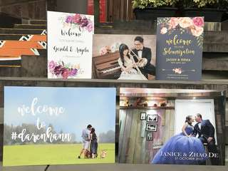 Wedding Sign Announcement/Direction Board