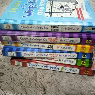 Diary of Wimpy Kid Books 1-6