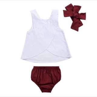 Baby Girl top pants set infant newborn