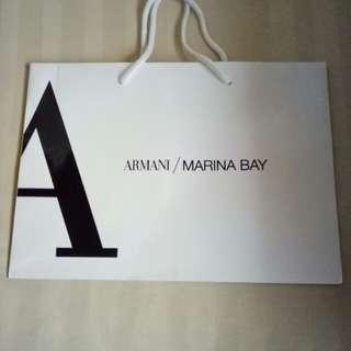 Armani /Marina Bay Paper  Bag