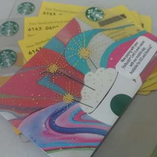 Starbucks gift card with RM100 credits