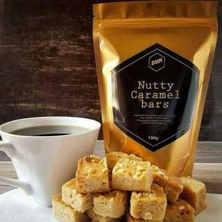 Nutty Caramel Bars