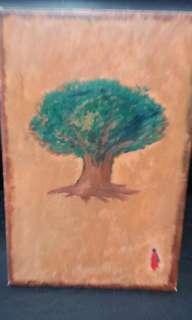 Meditating tree(oil painting)