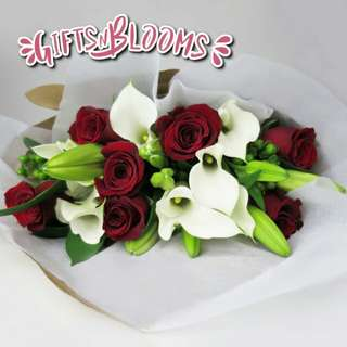 Fresh Flower Bouquet Surprise for Special Anniversary Birthday Gift V42 - QCWRG