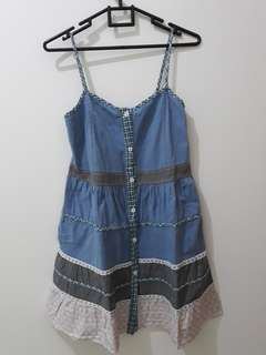 KOREAN DENIM DRESS - 2