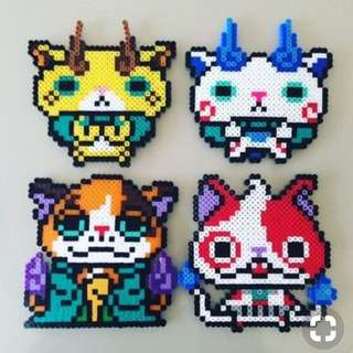 Yo-Kai Watch Hama Bead Designs