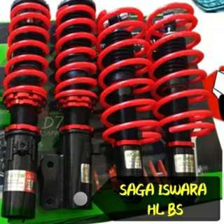 ADJUSTABLE 2 STEP ABSORBER + SPRING SET HL BS