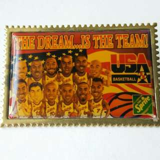 U.S.A Dream Team Basketball Pin Badge