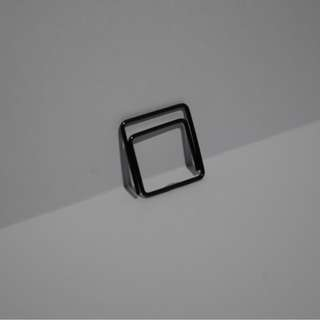 Black Square Paperclip